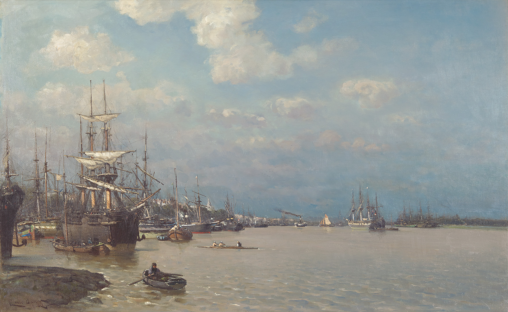 Haven Rotterdam Louis Apol (1850-1936) - Kunsthandel Studio 2000