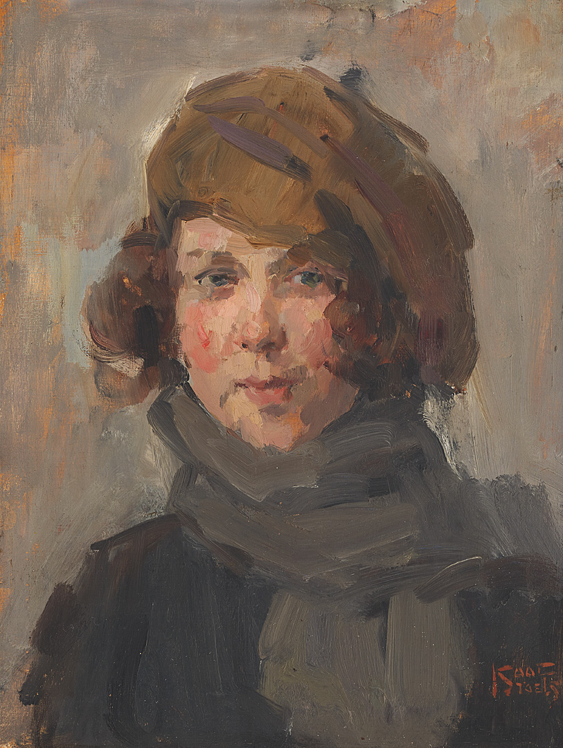 Portrait of a young girl with hat Isaac Lazarus Israels (1865-1934) - Kunsthandel Studio 2000