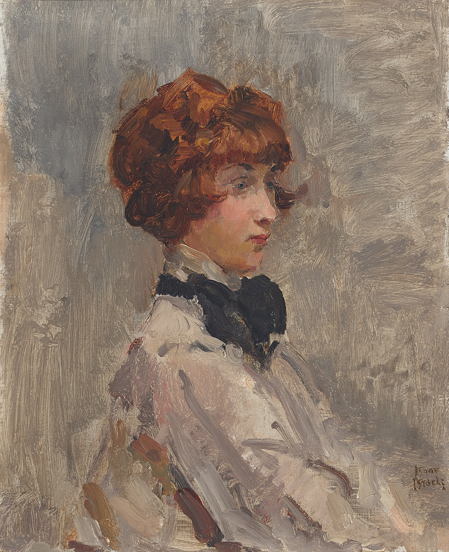 Woman with black bow