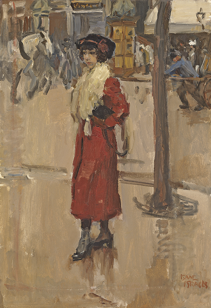 Parisienne with red cloak Isaac Lazarus Israels (1865-1934) - Kunsthandel Studio 2000