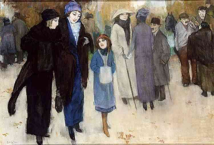 Leaving the theatre Leo  Gestel (1881-1941) - Kunsthandel Studio 2000