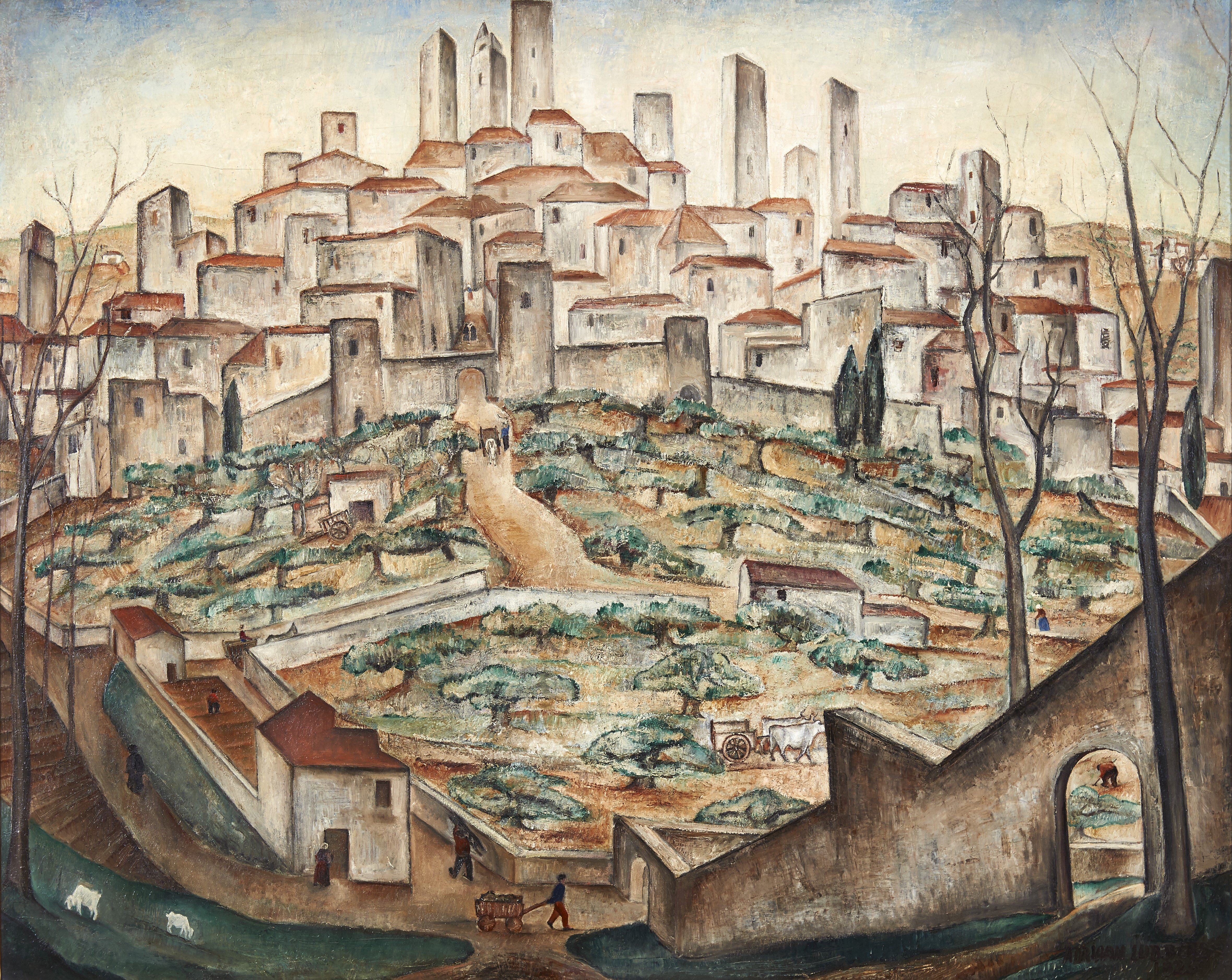View of San Gimignano, 1925