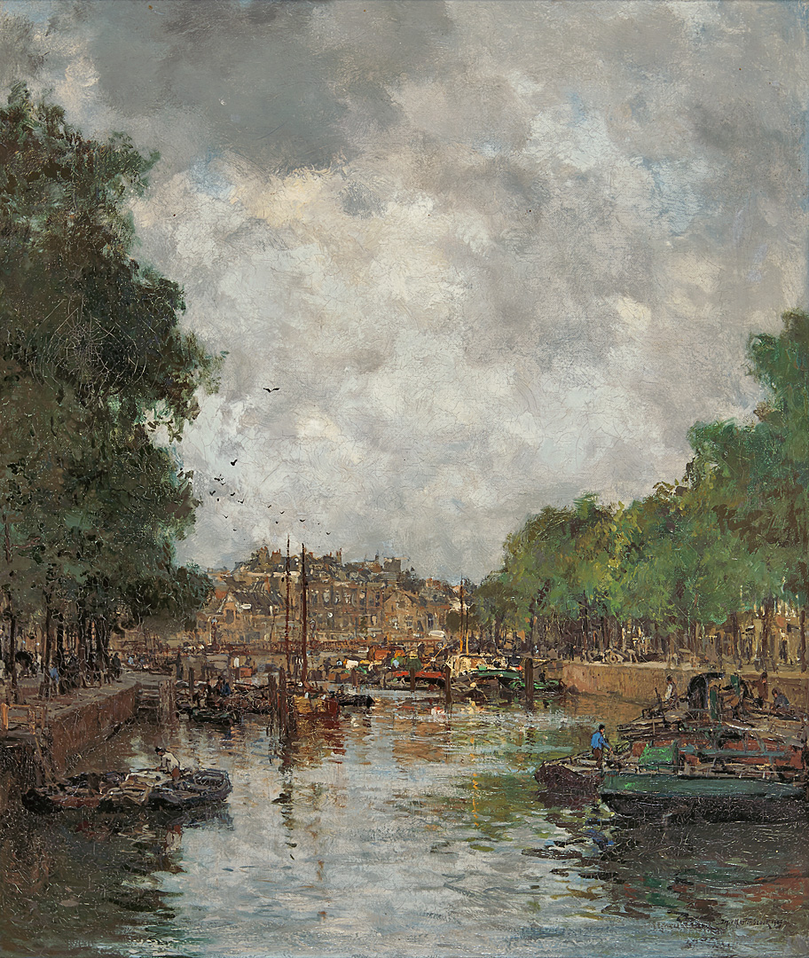 View of the Leuvehaven, Rotterdam