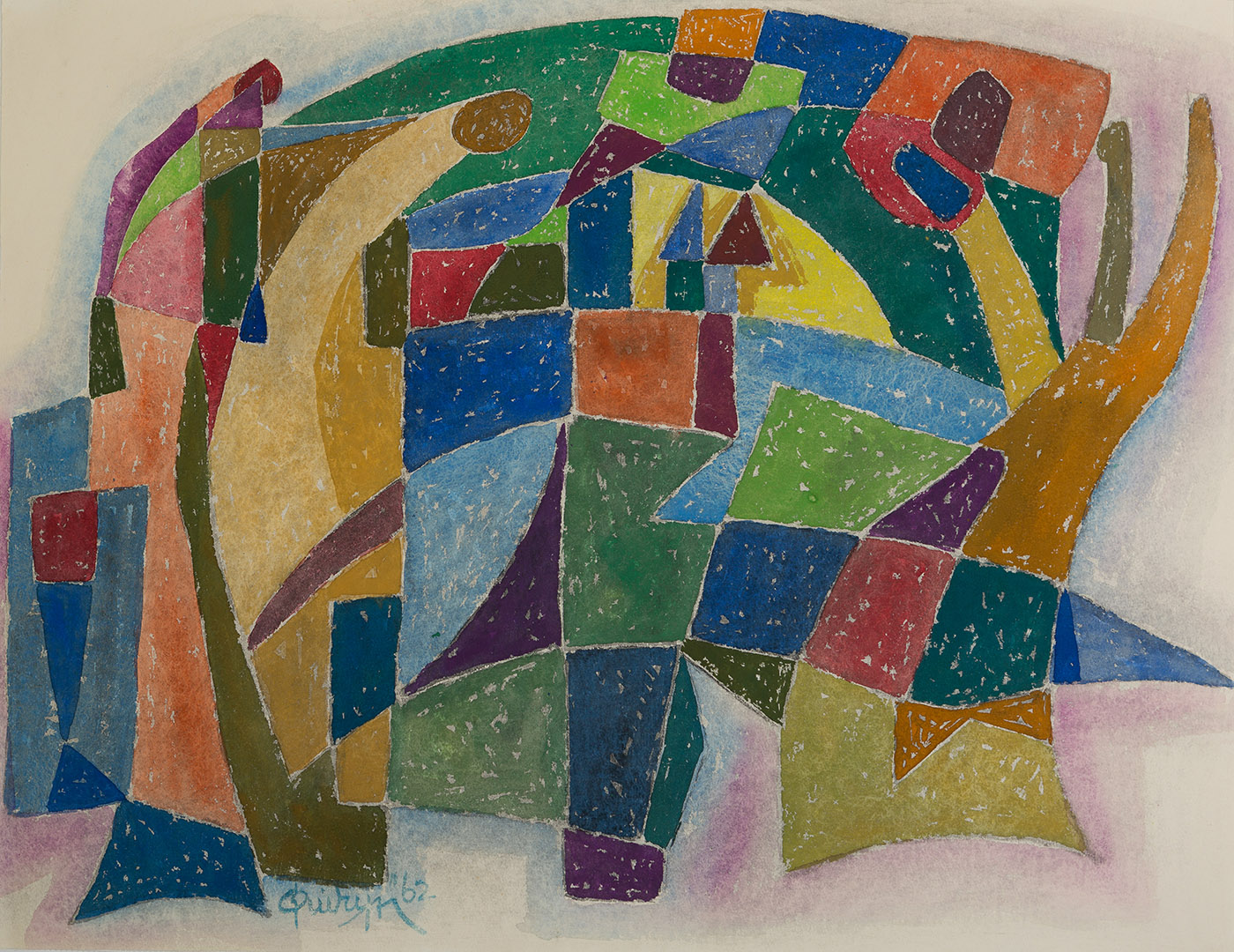 Dorpsgezicht abstract, 1962