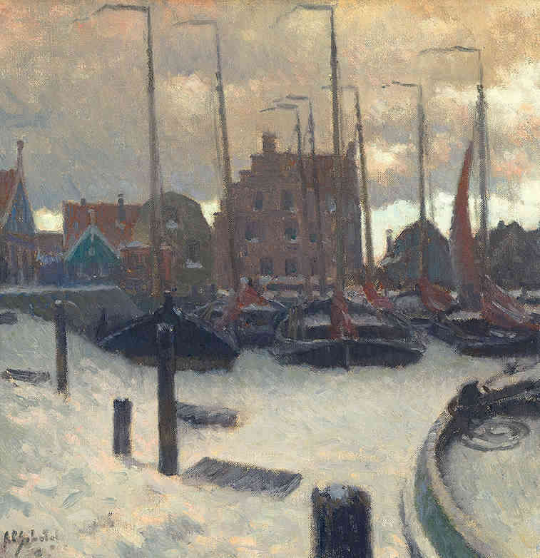 Winter in Volendam Anthonie Pieter Schotel (1890-1958) - Kunsthandel Studio 2000