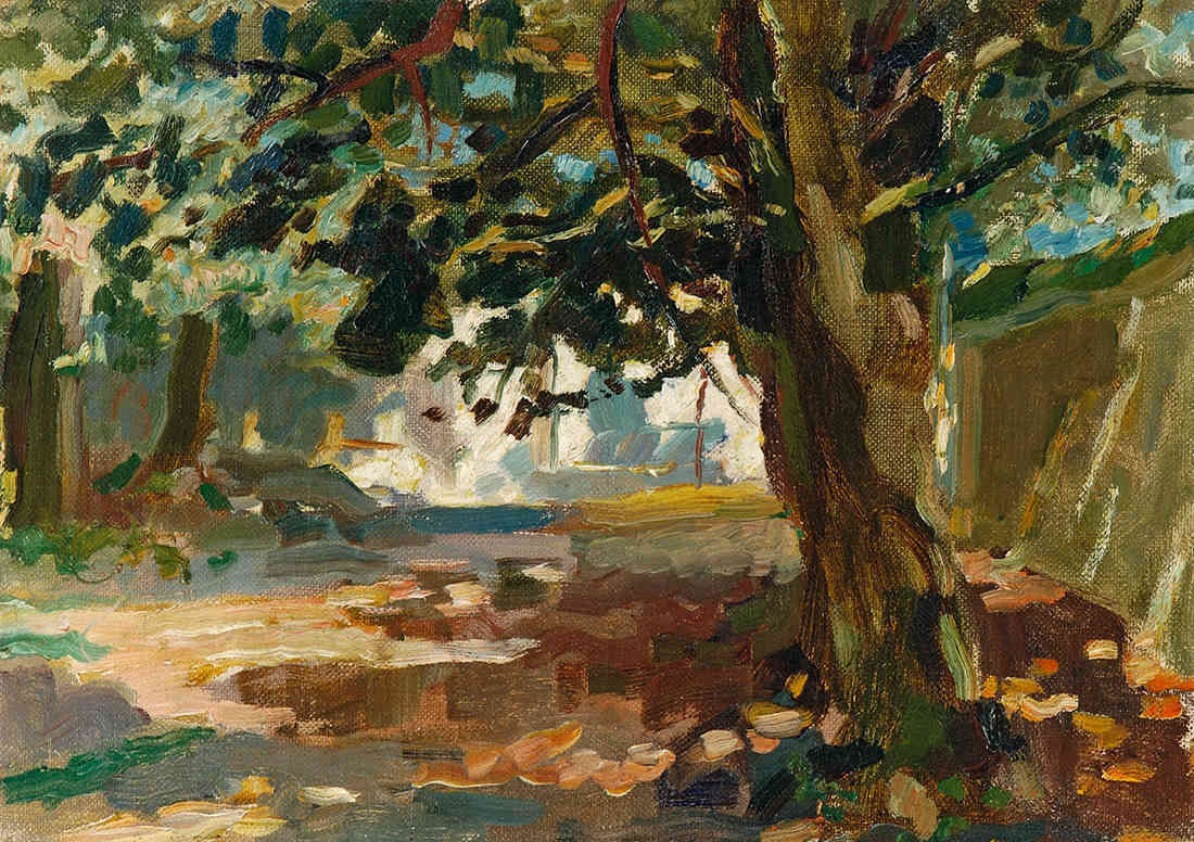 Weg in Rome, met boom Jan Sluijters (1881-1957) - Kunsthandel Studio 2000