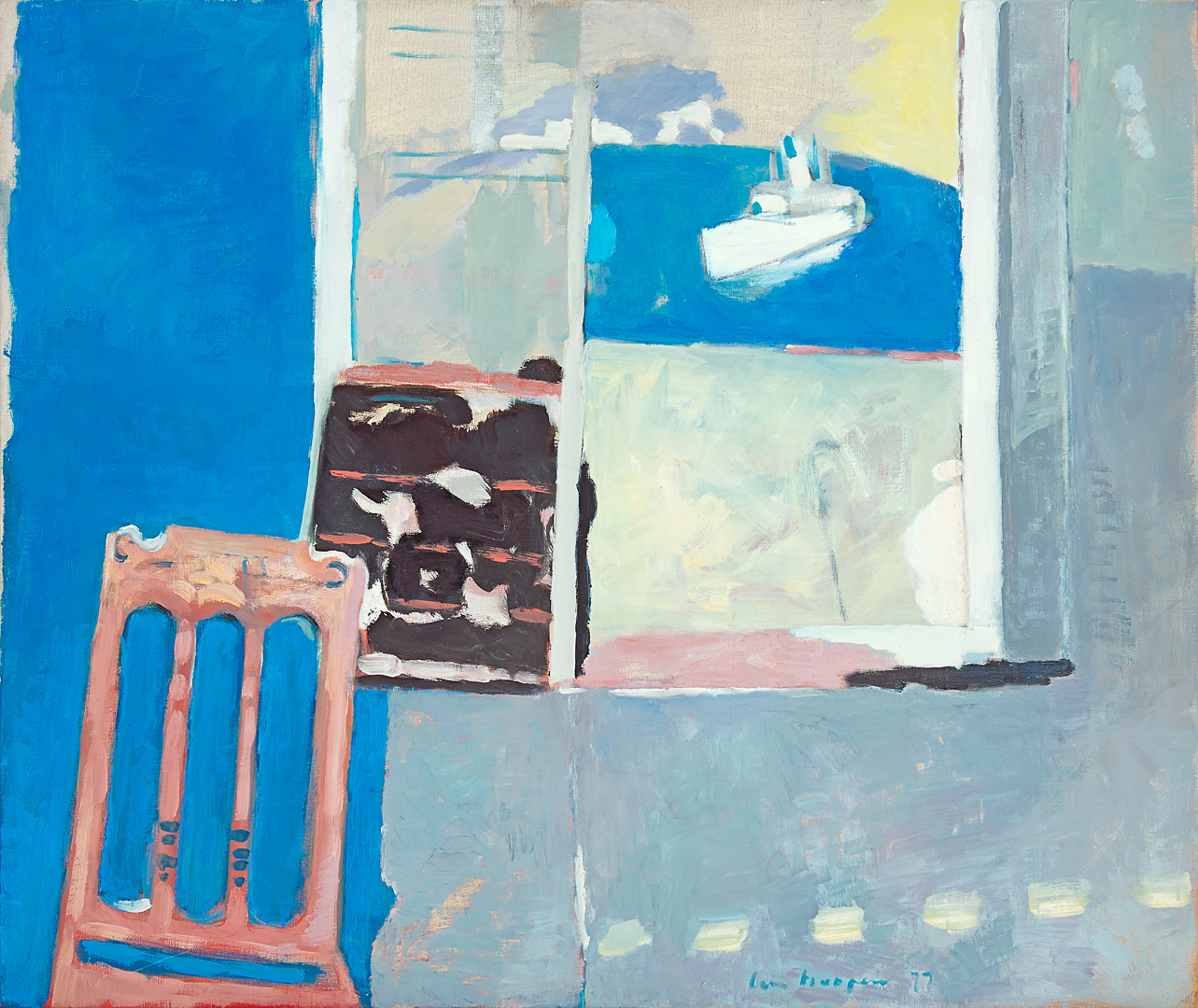 Interieur, venster met veerboot, 1977 Paul Hugo ten Hoopen (1927-) - Kunsthandel Studio 2000