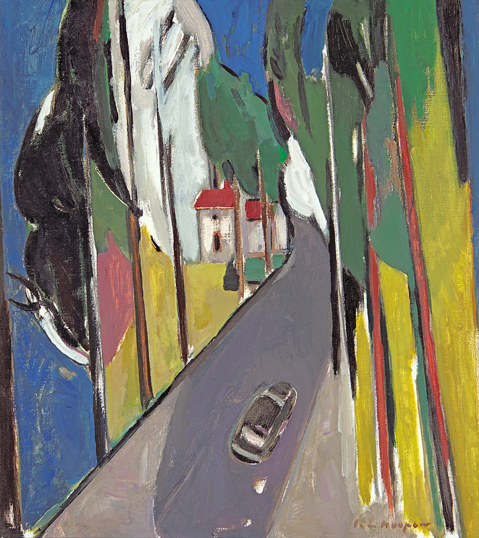 Route-National, 1991 Paul Hugo ten Hoopen (1927-) - Kunsthandel Studio 2000