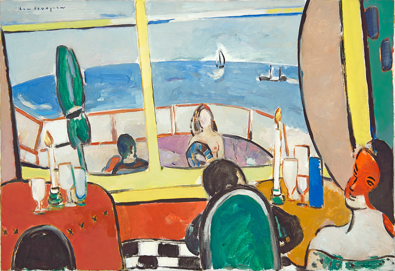 Strandpaviljoen, 1993 Paul Hugo ten Hoopen (1927-) - Kunsthandel Studio 2000