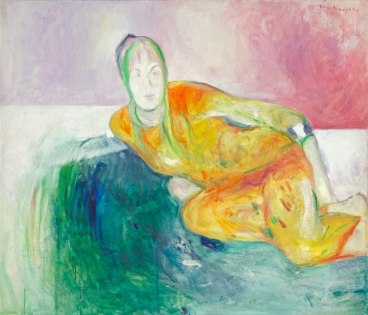 Leunende vrouw, 1970 Paul Hugo ten Hoopen (1927-) - Kunsthandel Studio 2000