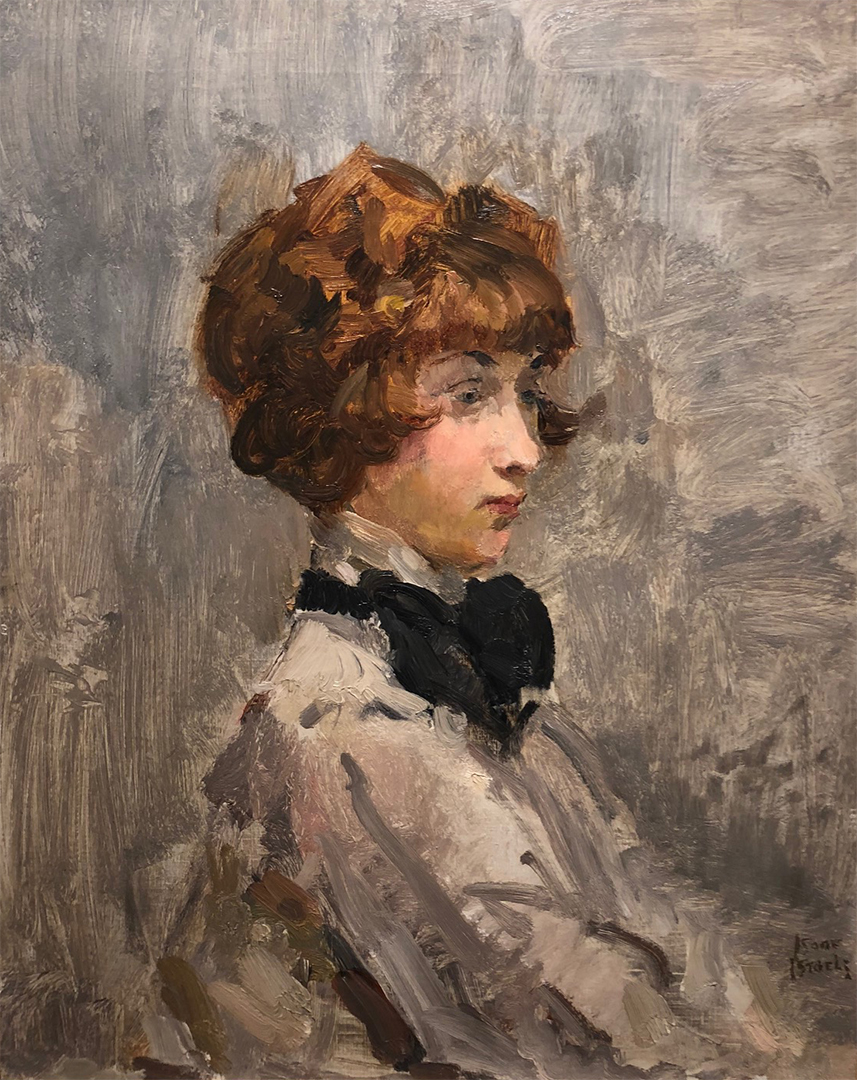 Woman with black bow Isaac Lazarus Israels (1865-1934) - Kunsthandel Studio 2000