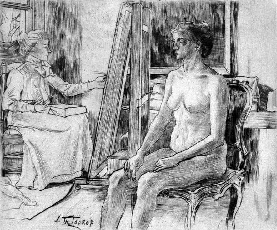 Het model Jan Toorop (1858-1928) - Kunsthandel Studio 2000