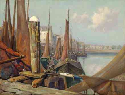 Haven van Vlissingen Louis Heijmans (1890-1977) - Kunsthandel Studio 2000