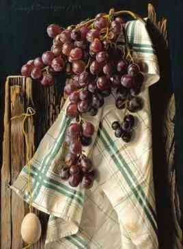 Tea towel with grapes Lodewijk Bruckman (1903-1995) - Kunsthandel Studio 2000
