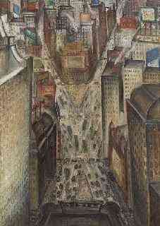 Time Square (New York) Adriaan Lubbers (1892-1954) - Kunsthandel Studio 2000