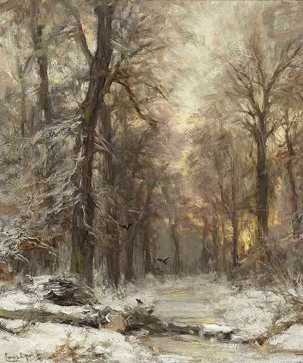 Winter in het Haagsche bos Louis Apol (1850-1936) - Kunsthandel Studio 2000