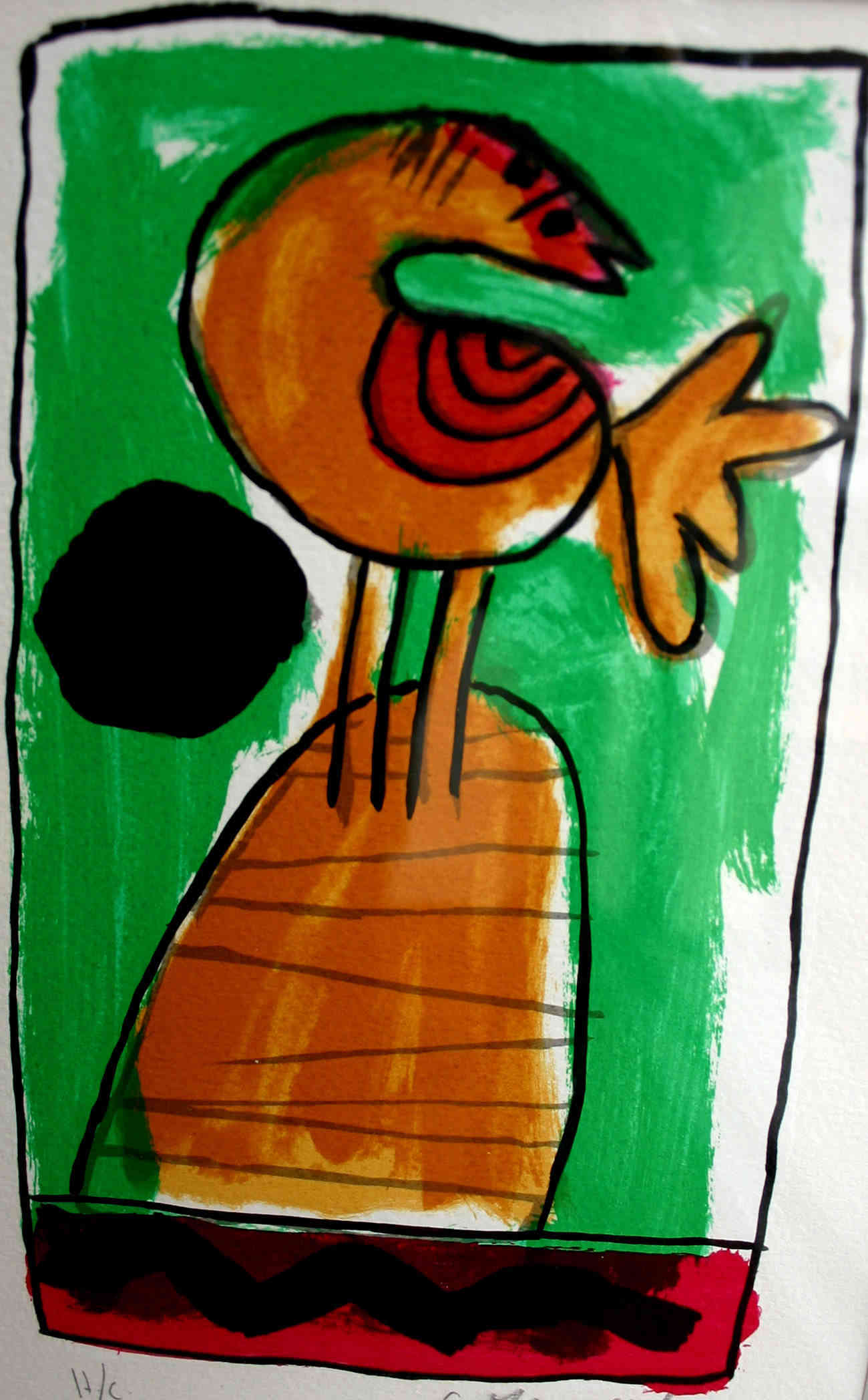 Orange bird  Corneille (1922-2010) - Kunsthandel Studio 2000