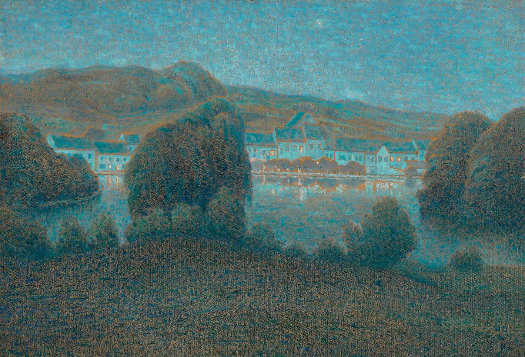 Soir à Boitsfort William Degouve de Nuncques (1867-1935) - Kunsthandel Studio 2000