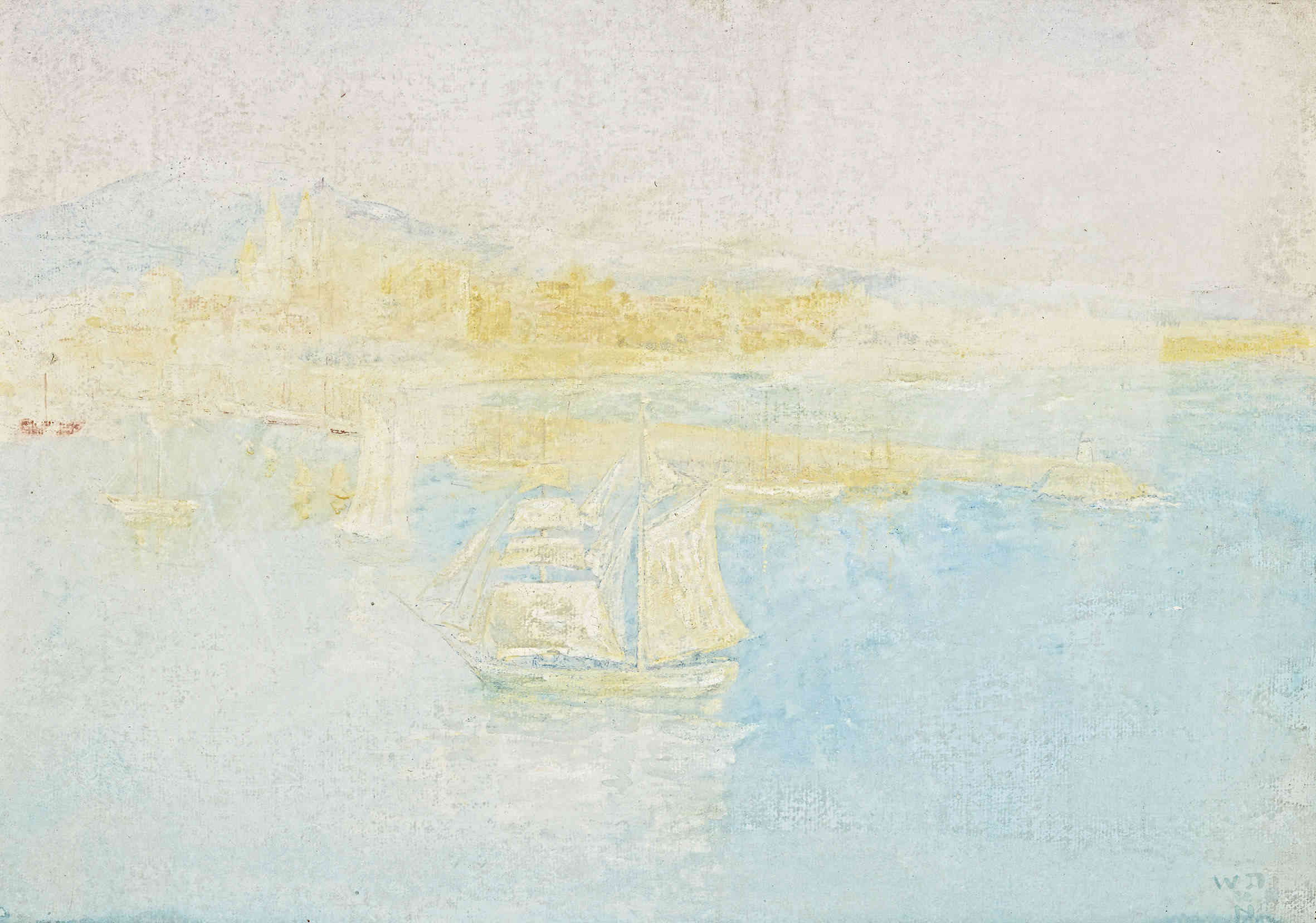 Le port de Palma William Degouve de Nuncques (1867-1935) - Kunsthandel Studio 2000