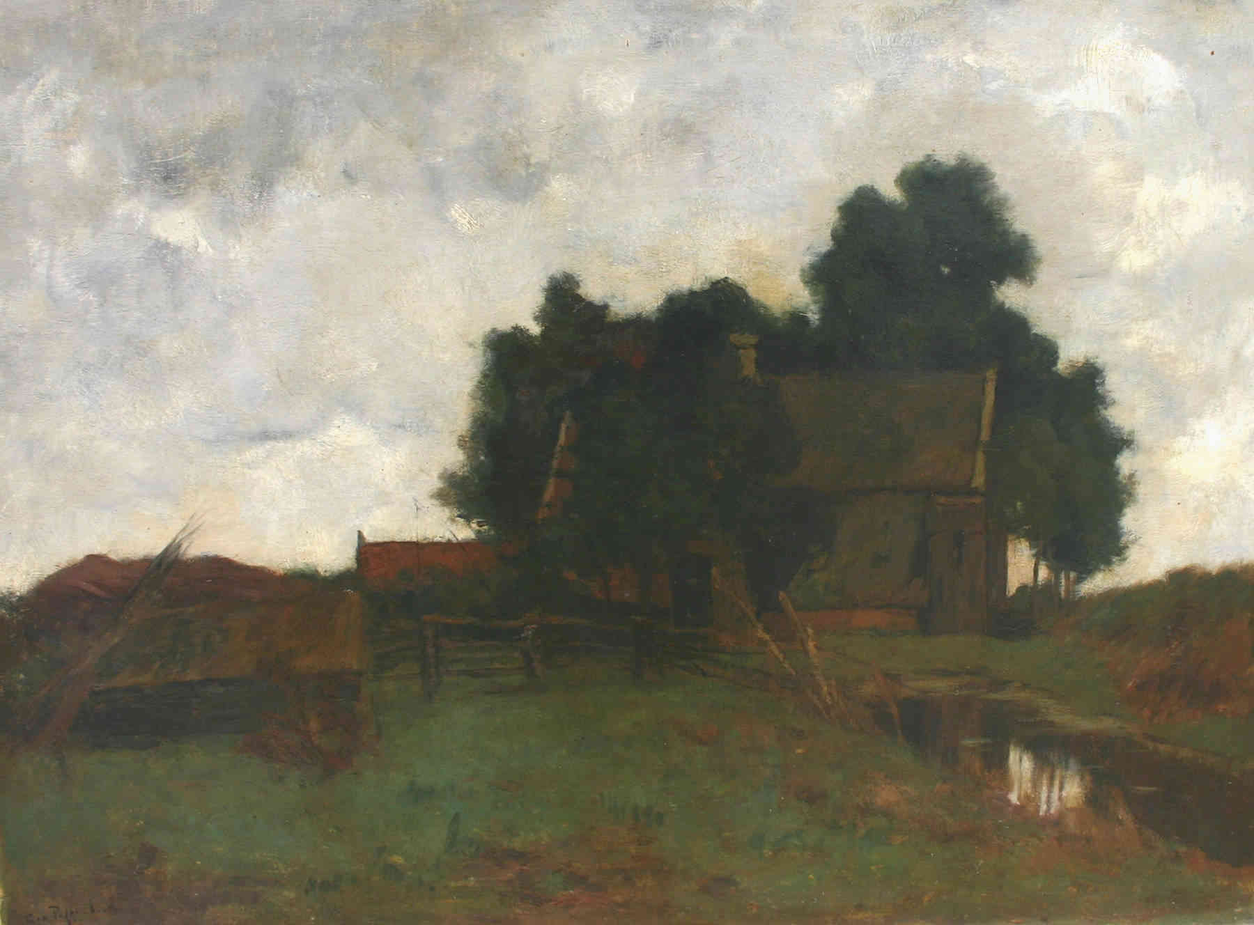Regenstemming George Jan Hendrik (Geo) Poggenbeek (1853-1903) - Kunsthandel Studio 2000