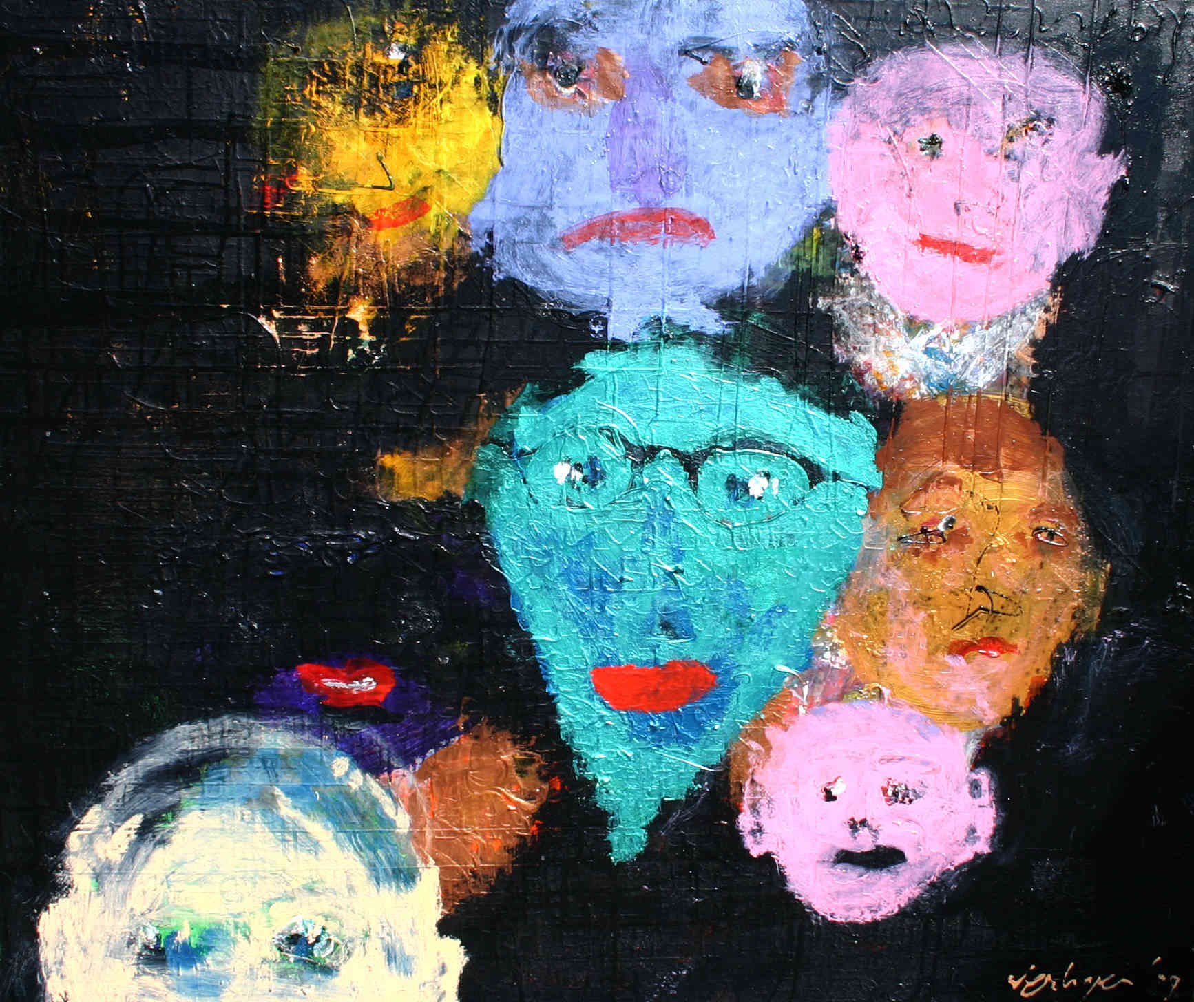 People from Nighttown Hans Verhagen (1939-) - Kunsthandel Studio 2000