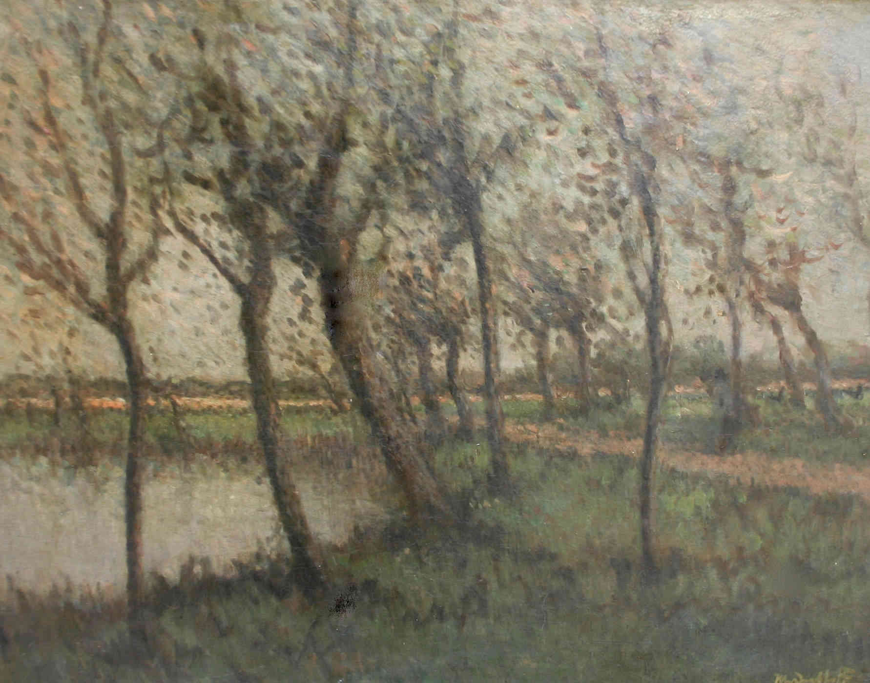 Bomen langs het water Hermanius Anthonius (Henri) van Daalhoff (1867-1953) - Kunsthandel Studio 2000
