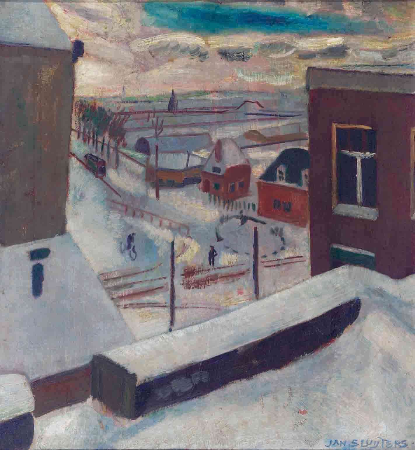 Gezicht op de Amstelveenscheweg in de winter Jan Sluijters (1881-1957) - Kunsthandel Studio 2000