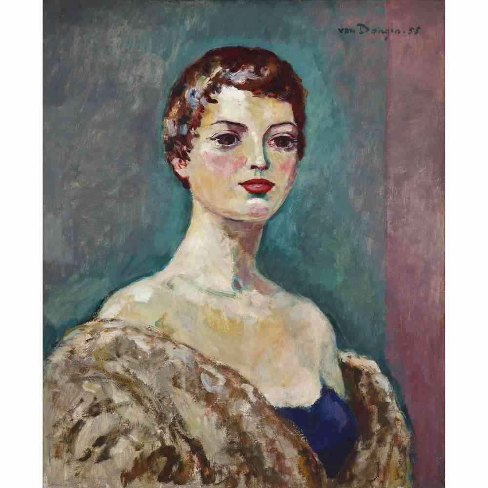 Kees Van Dongen Portrait De Femme Bij Kunsthandel Studio2000