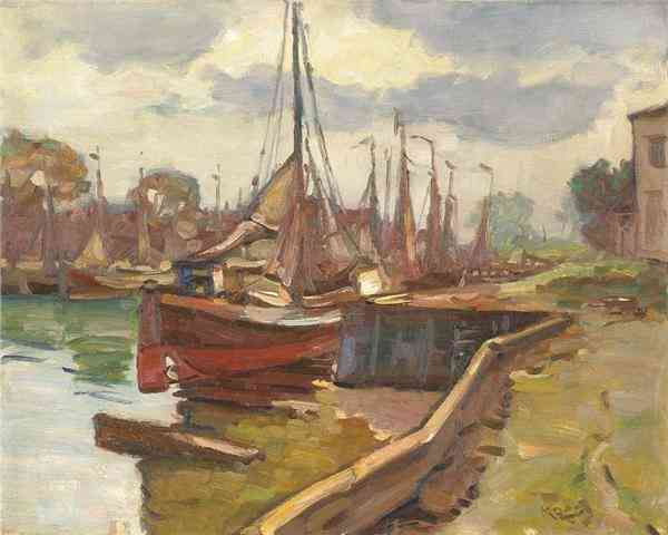 Haven van Veere Dirk Jan Koets (1895-1956) - Kunsthandel Studio 2000