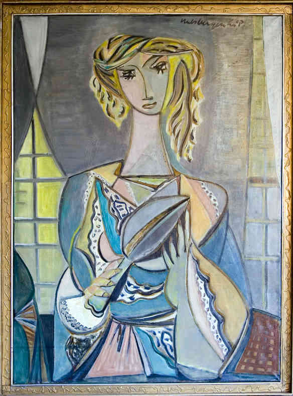Woman with mirror Johannes Evert (Han) Hulsbergen (1901-1989) - Kunsthandel Studio 2000