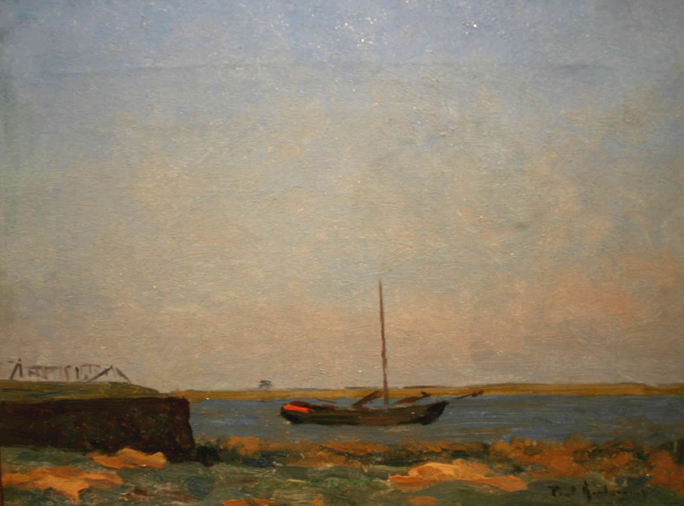 Boot voor de haven Paul Arntzenius (1883-1965) - Kunsthandel Studio 2000