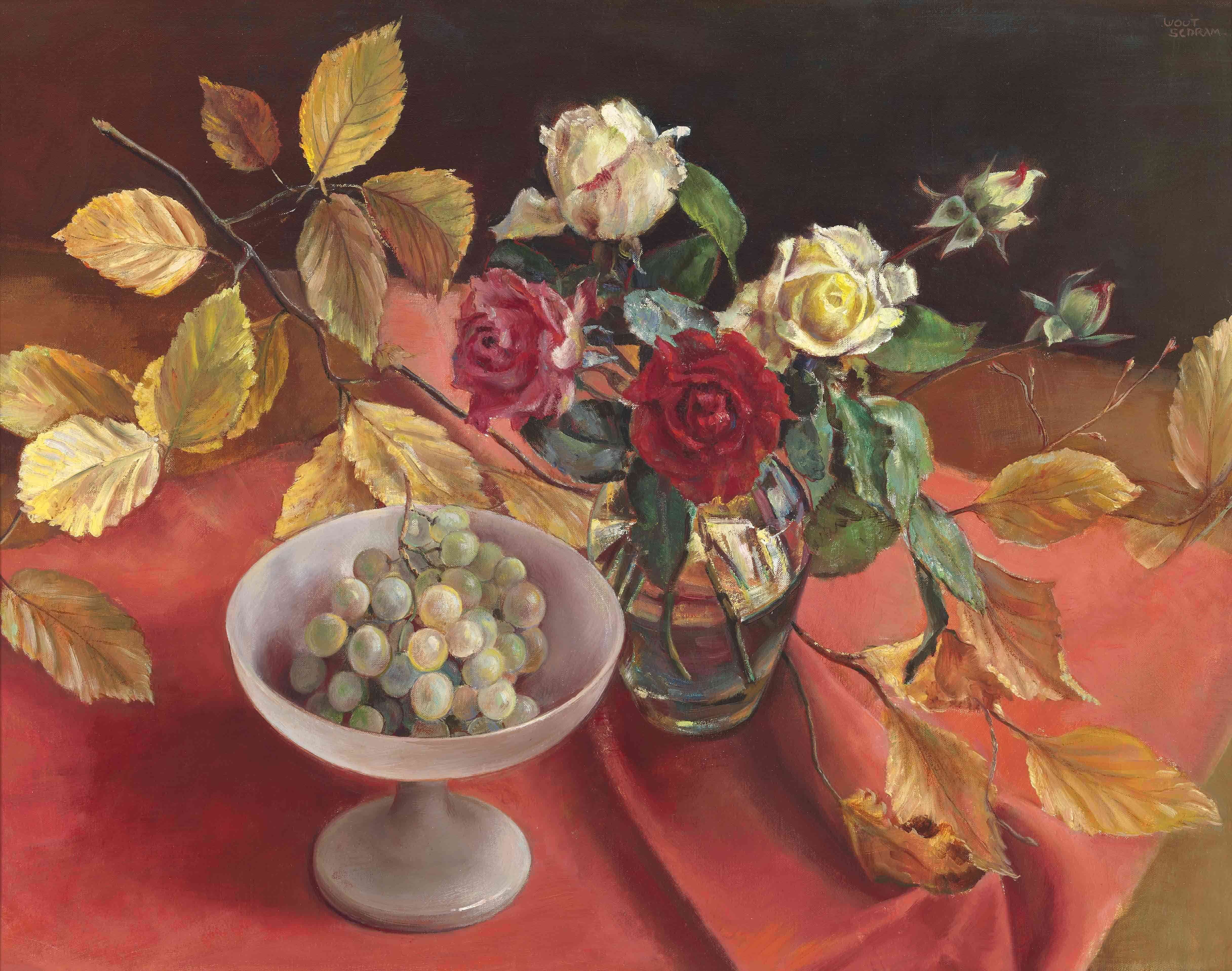 Stilleven Herfst of the Dining table