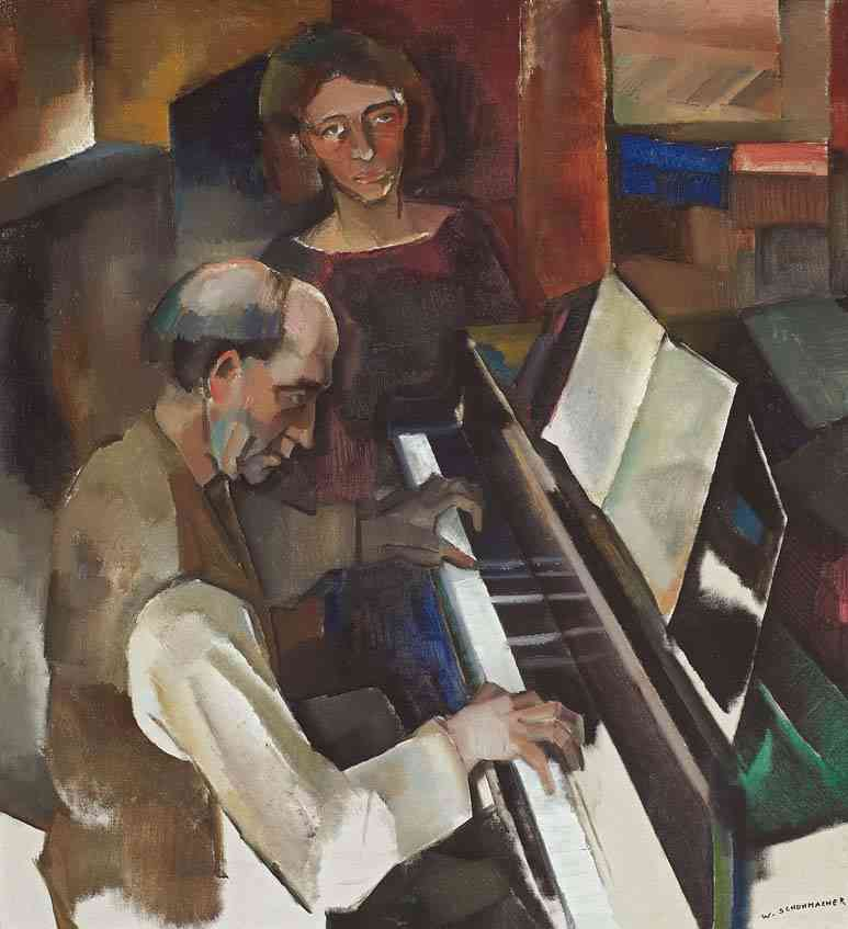 Chopin 3de pianosonate (Cornelis Berkhout of De Pianist) Wim Schuhmacher (1894-1986) - Kunsthandel Studio 2000