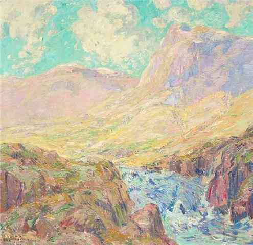 Mountain landscape in Norway William Henri Singer (1868-1943) - Kunsthandel Studio 2000