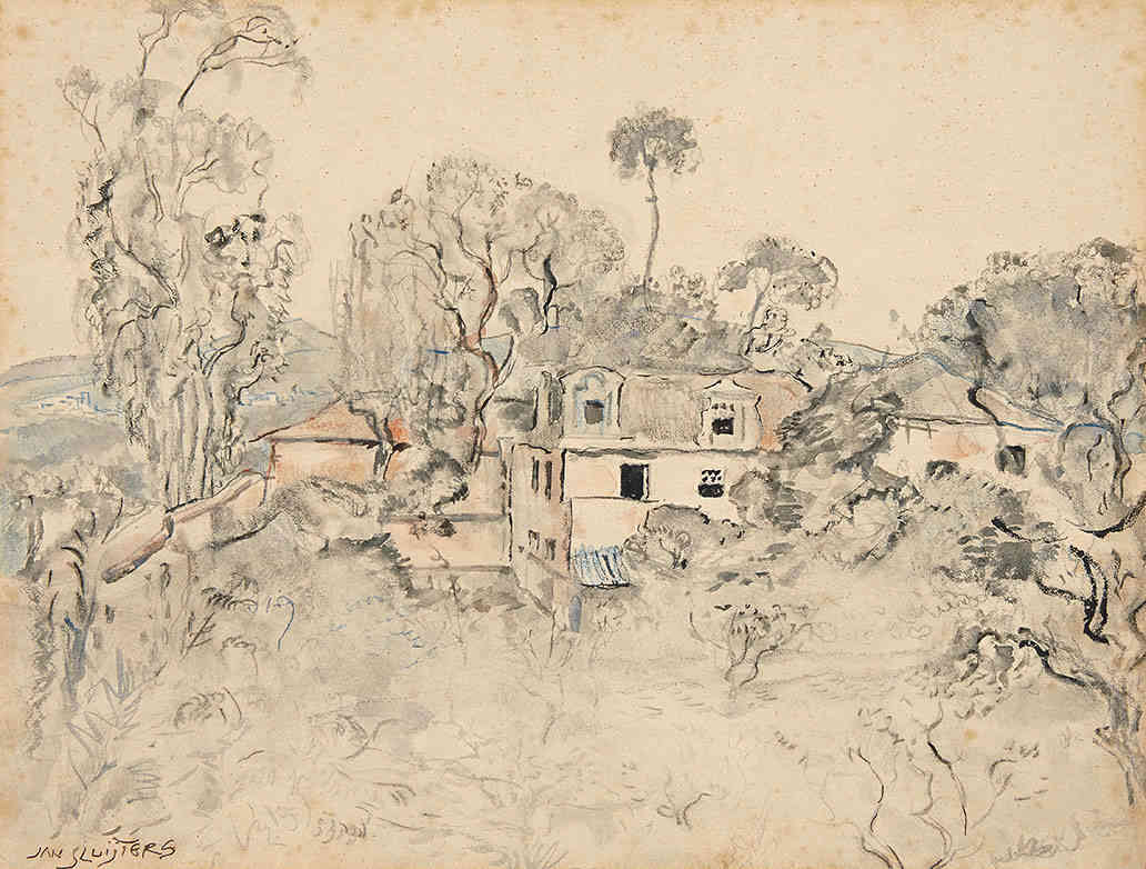 Huis in Sintra,Portugal Jan Sluijters (1881-1957) - Kunsthandel Studio 2000