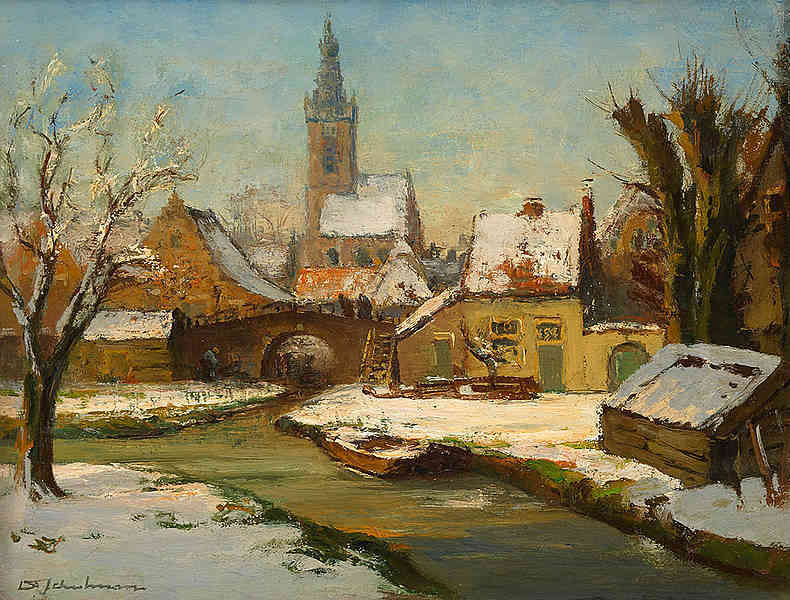 Winter in Edam David Schulman (1881-1966) - Kunsthandel Studio 2000