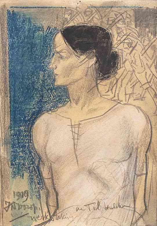 Werkstaking Jan Toorop (1858-1928) - Kunsthandel Studio 2000