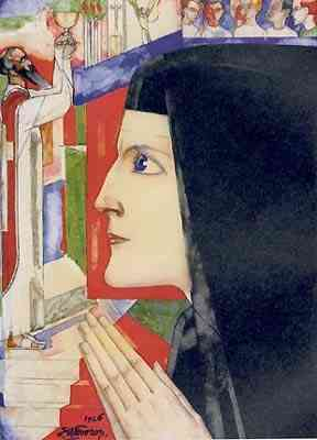 My God  my all (De Nun) Jan Toorop (1858-1928) - Kunsthandel Studio 2000