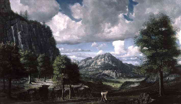 Landschap met vechtenden Carel Willink (1900-1983) - Kunsthandel Studio 2000
